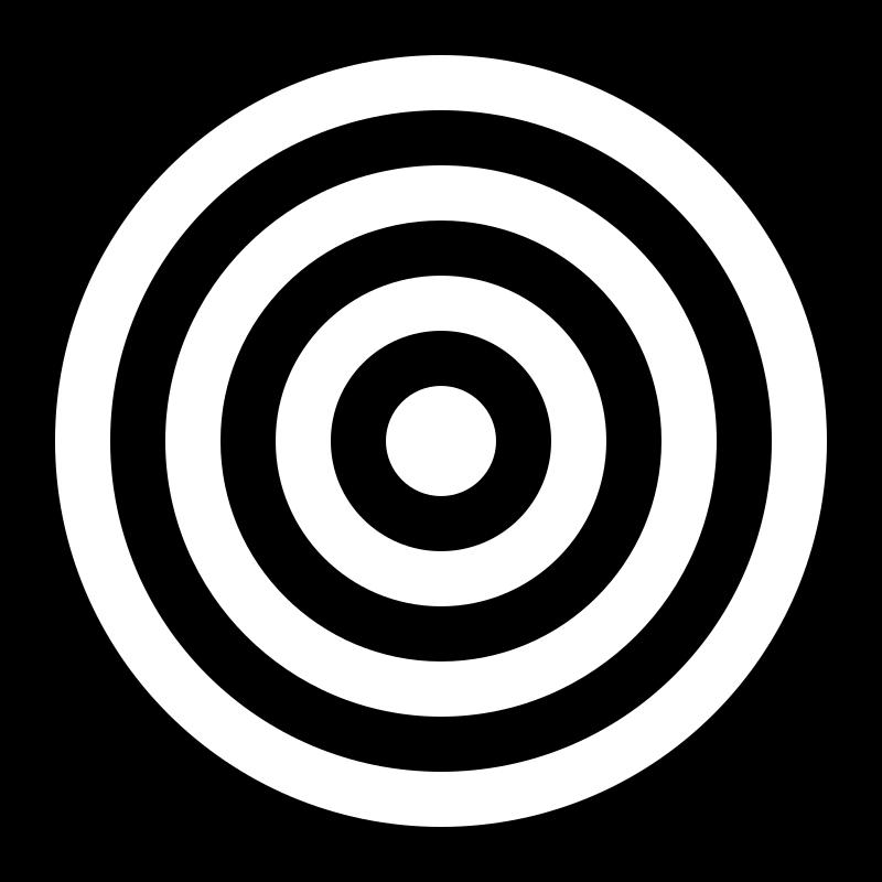Proud clipart drew. Bullseye black and white