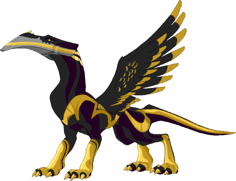Beau winged by firebooster. Proud clipart figure