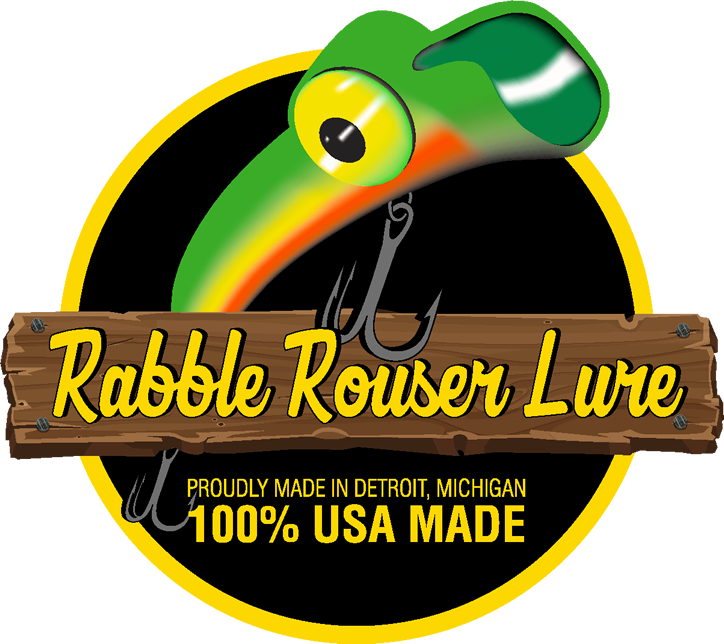 Rabble rouser fishing lures. Proud clipart fisherman