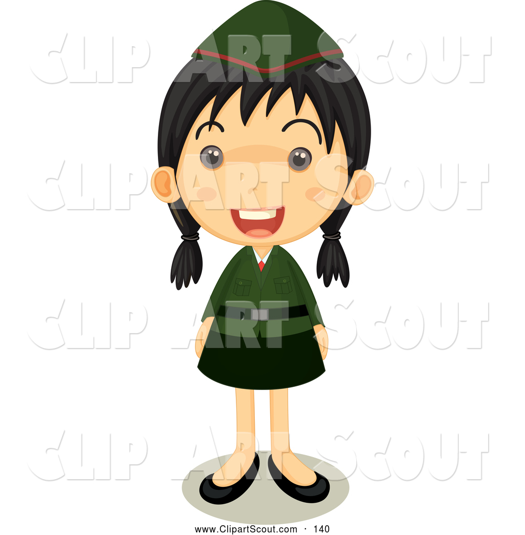 Proud clipart happy. Of a girl scout