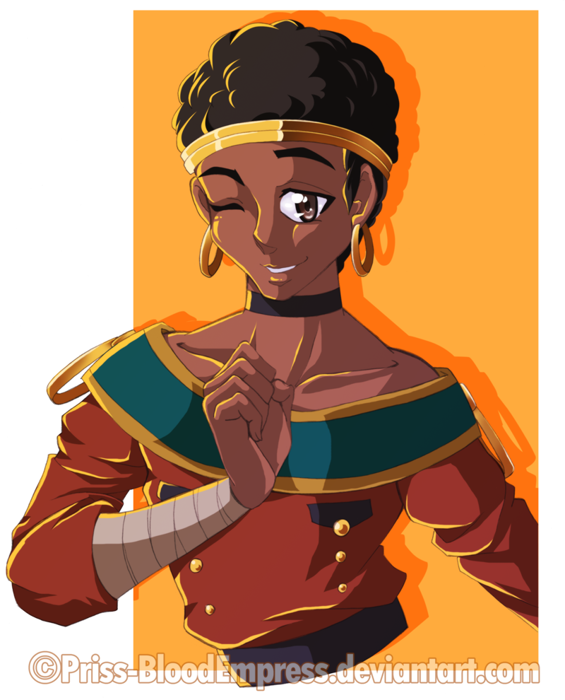 African blader demure by. Proud clipart scornful