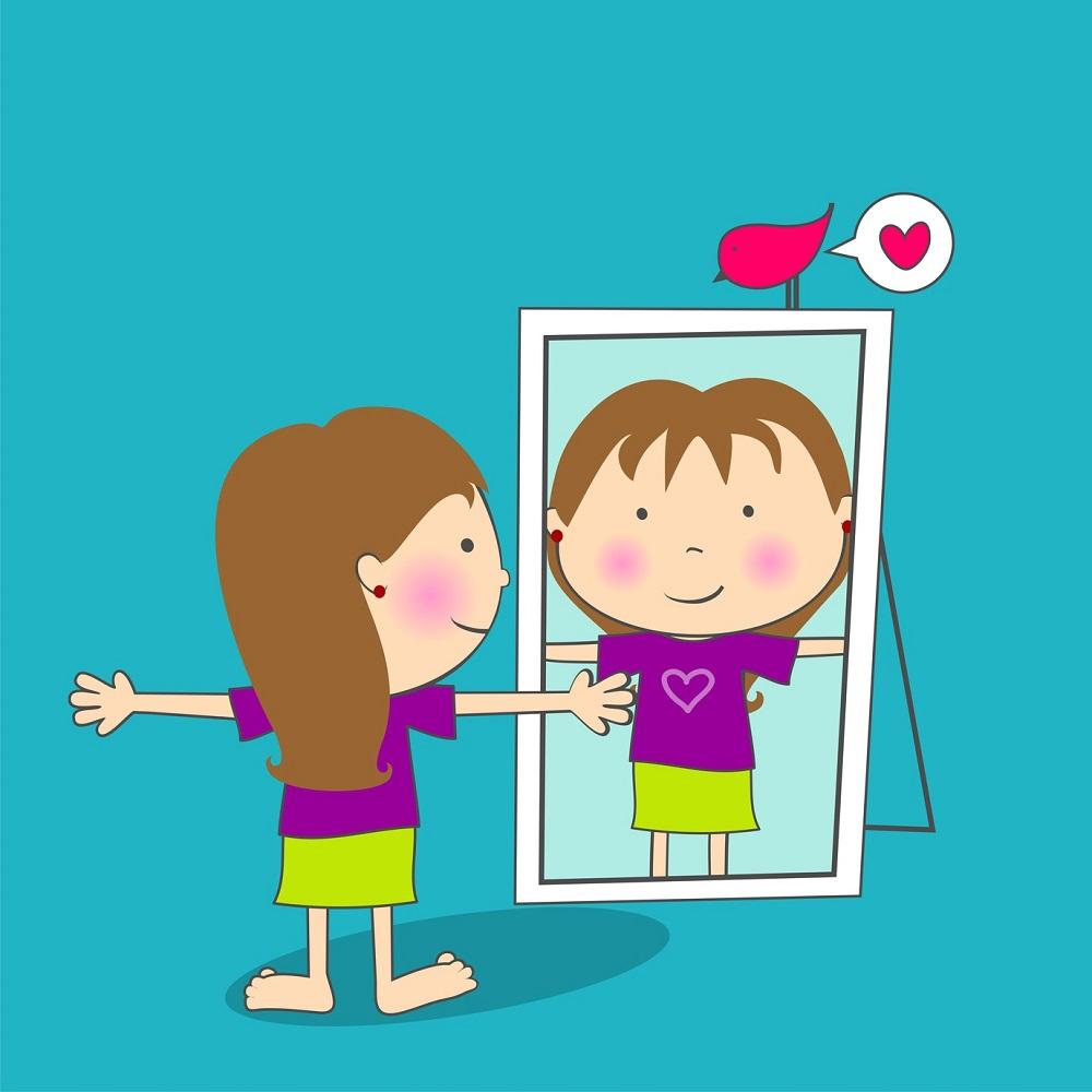 Developing esteem . Proud clipart self