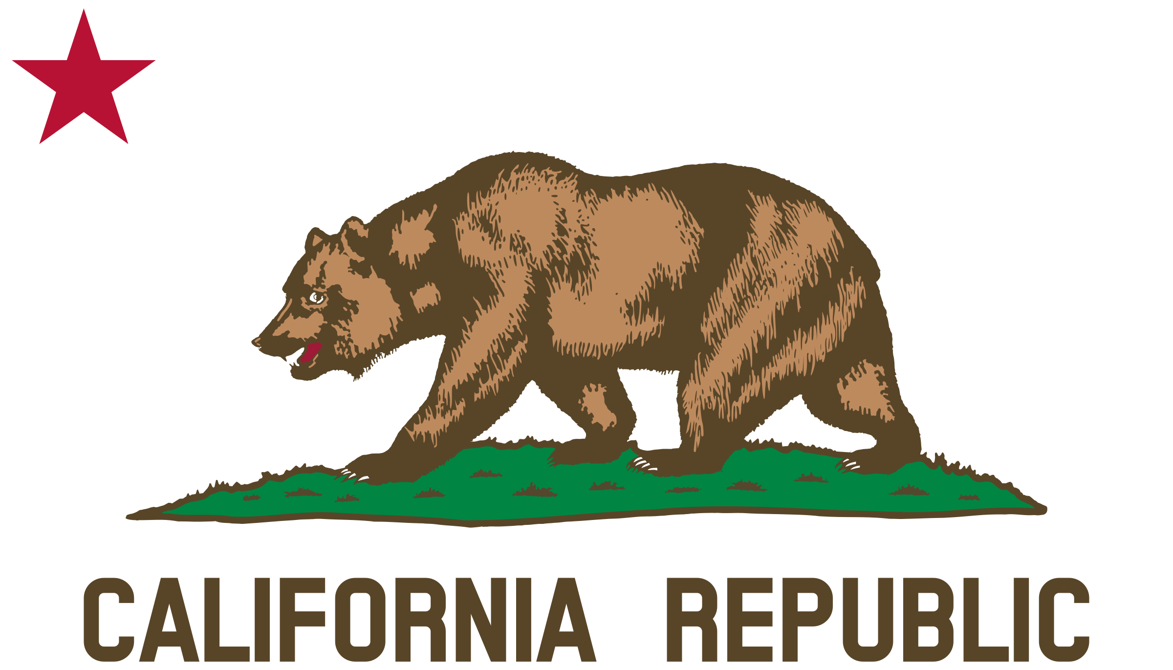 Proud clipart star. Flag of california bear