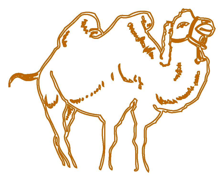 Proud clipart step. Cartoon camel drawing at