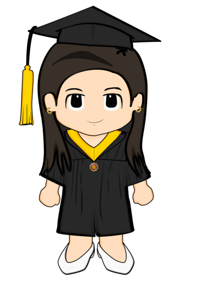 Proud clipart student paper. Littleanne grad by cheesyplinky