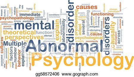 Stock illustration background concept. Psychology clipart abnormal psychology