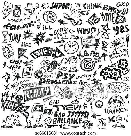 Psychology clipart doodle. Clip art vector doodles