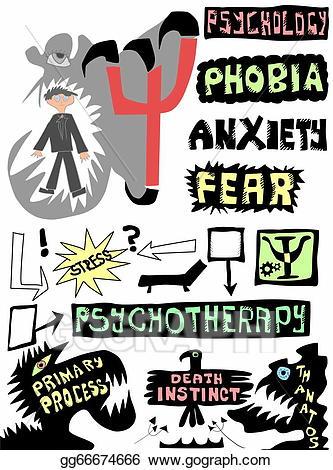Psychology clipart doodle. Stock illustration concept clip