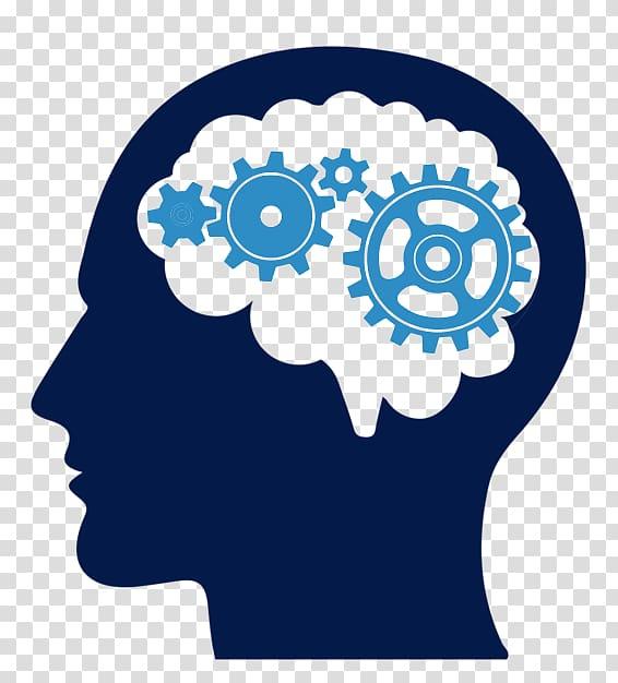 Blue and green human. Psychology clipart gear brain