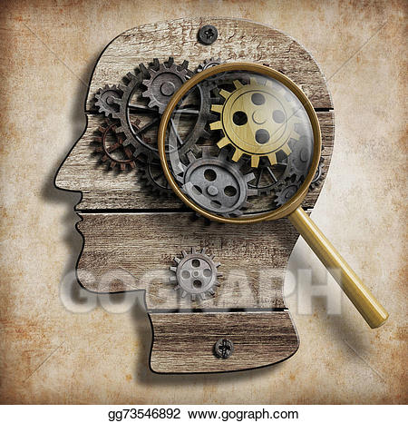 Gears and cogs mental. Psychology clipart gear brain