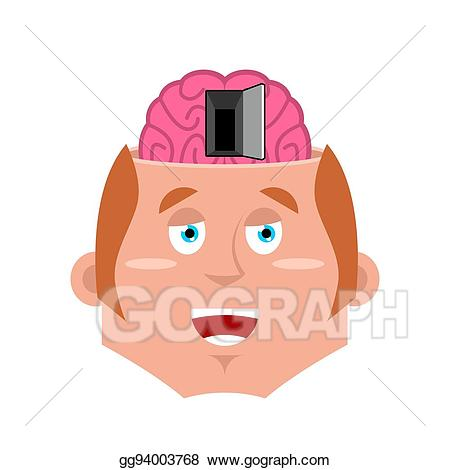 Psychology clipart man. Vector stock and open