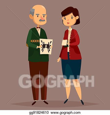 Eps vector psychologist holding. Psychology clipart man