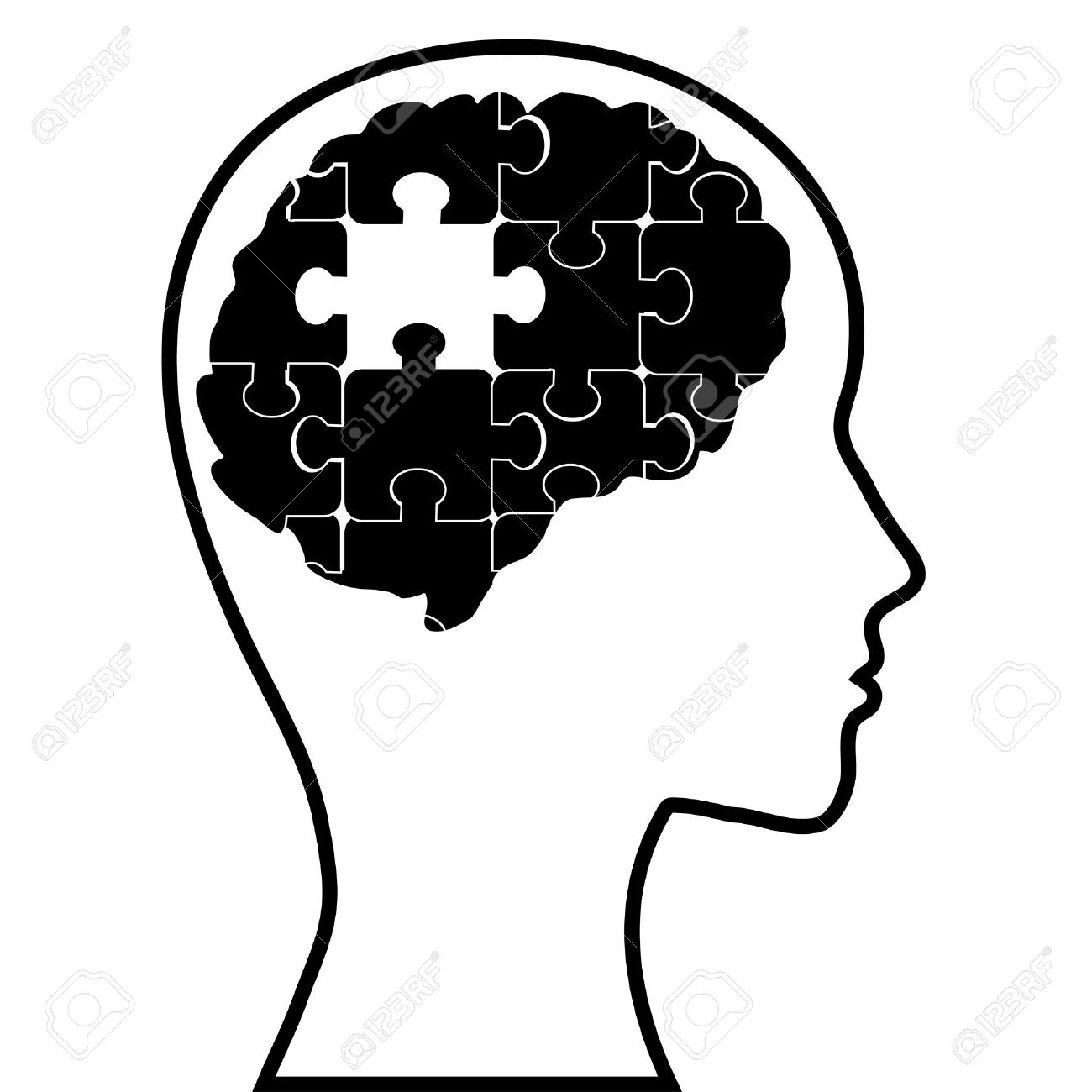 Psychologist puzzle brain and. Psychology clipart mental confusion