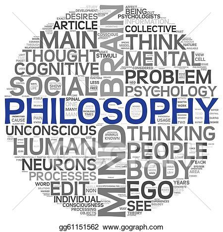 Clip art philosophy concept. Psychology clipart philosophical