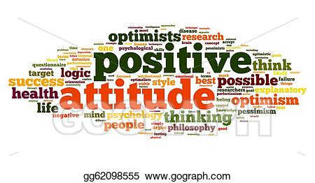 Psychology clipart positive attitude. Stock illustration concept in