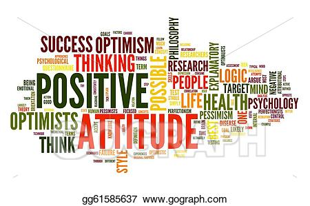Stock illustration concept in. Psychology clipart positive attitude