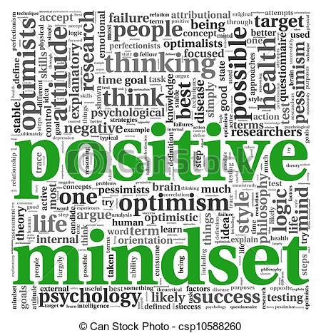 Psychology clipart positive mindset. Concept in panda free