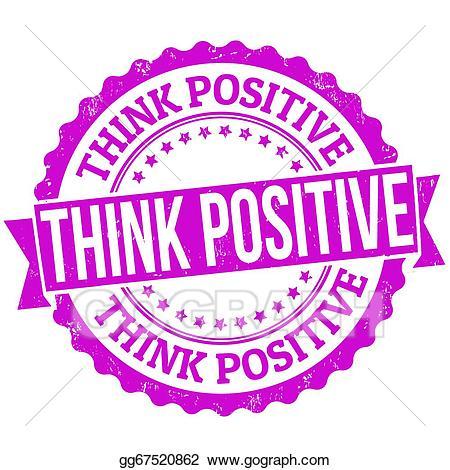 Psychology clipart positivity. Vector think positive stamp