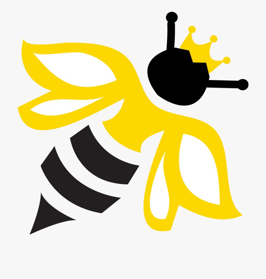 Queen bee logo design. Psychology clipart positivity
