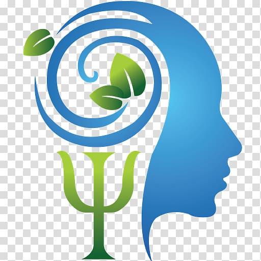 Blue and green psychologist. Psychology clipart psychology logo