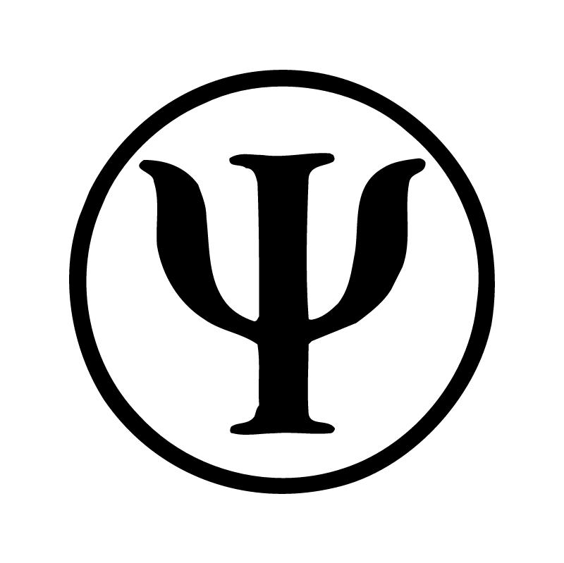 Psychology clipart psychology logo. White background font line