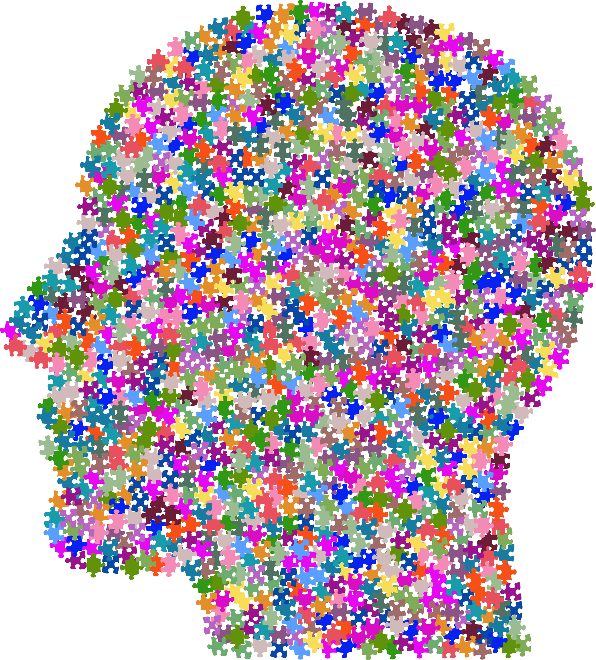 Psychology clipart puzzle head. Prismatic jittered big image
