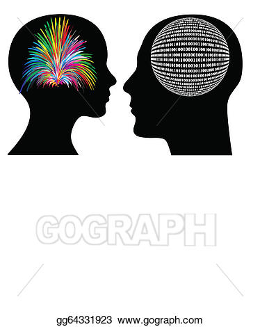 Vector different ways of. Psychology clipart rational thinking