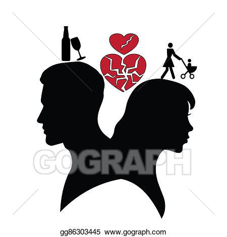 Stock illustration of man. Psychology clipart silhouette
