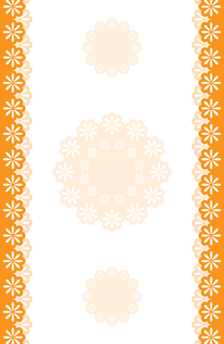 Pumpkin border png. Orange floral borders x