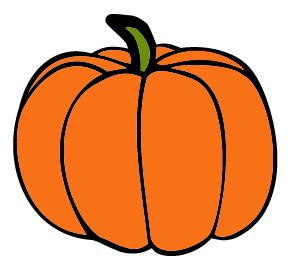 Pumpkin clipart. Orange