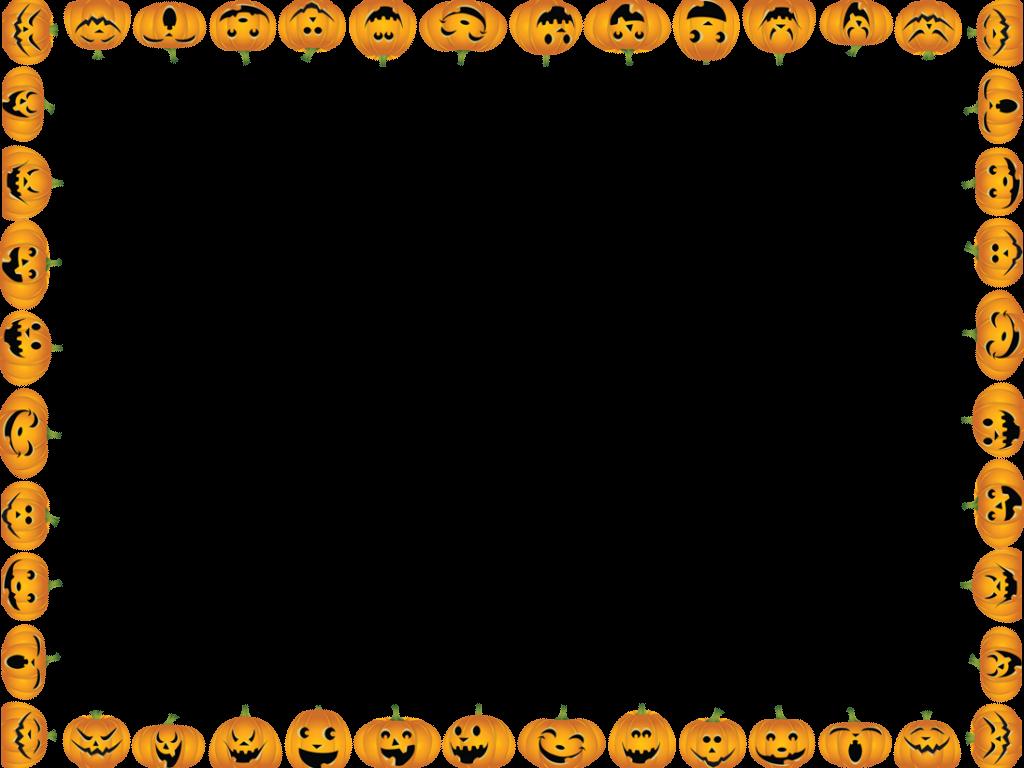 Pumpkin clipart border. Halloween pumpkins instant photo