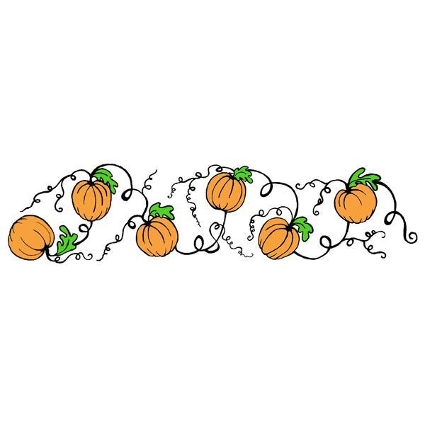 Pumpkin clipart border. Free borders cliparts download