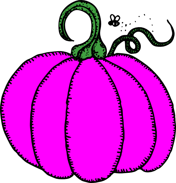 Pink clip art at. Pumpkin clipart cartoon