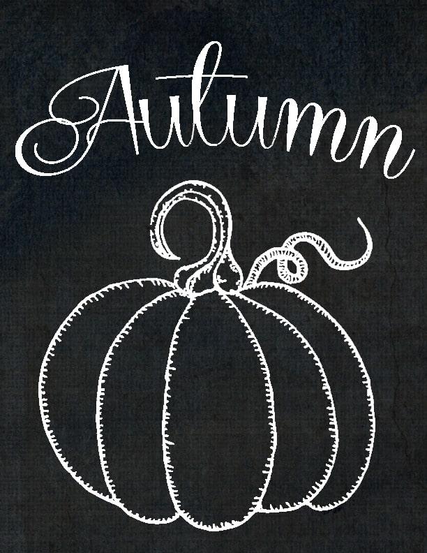 Pumpkin clipart chalkboard. Free printables autumn domestically