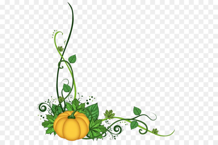 Pumpkin clipart corner. Floral flower background leaf
