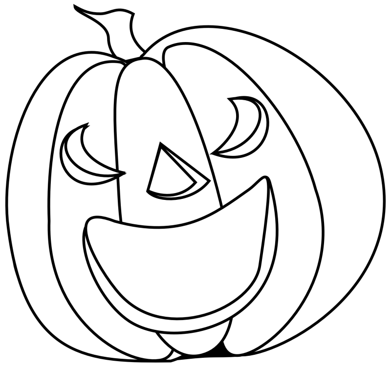 Pumpkin clipart creepy. Scary black and white