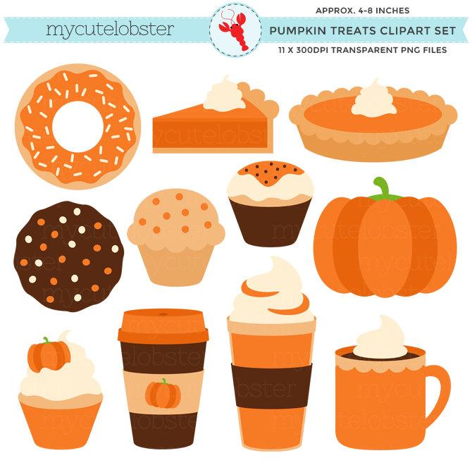Pumpkin clipart donut. Coffee clip art library