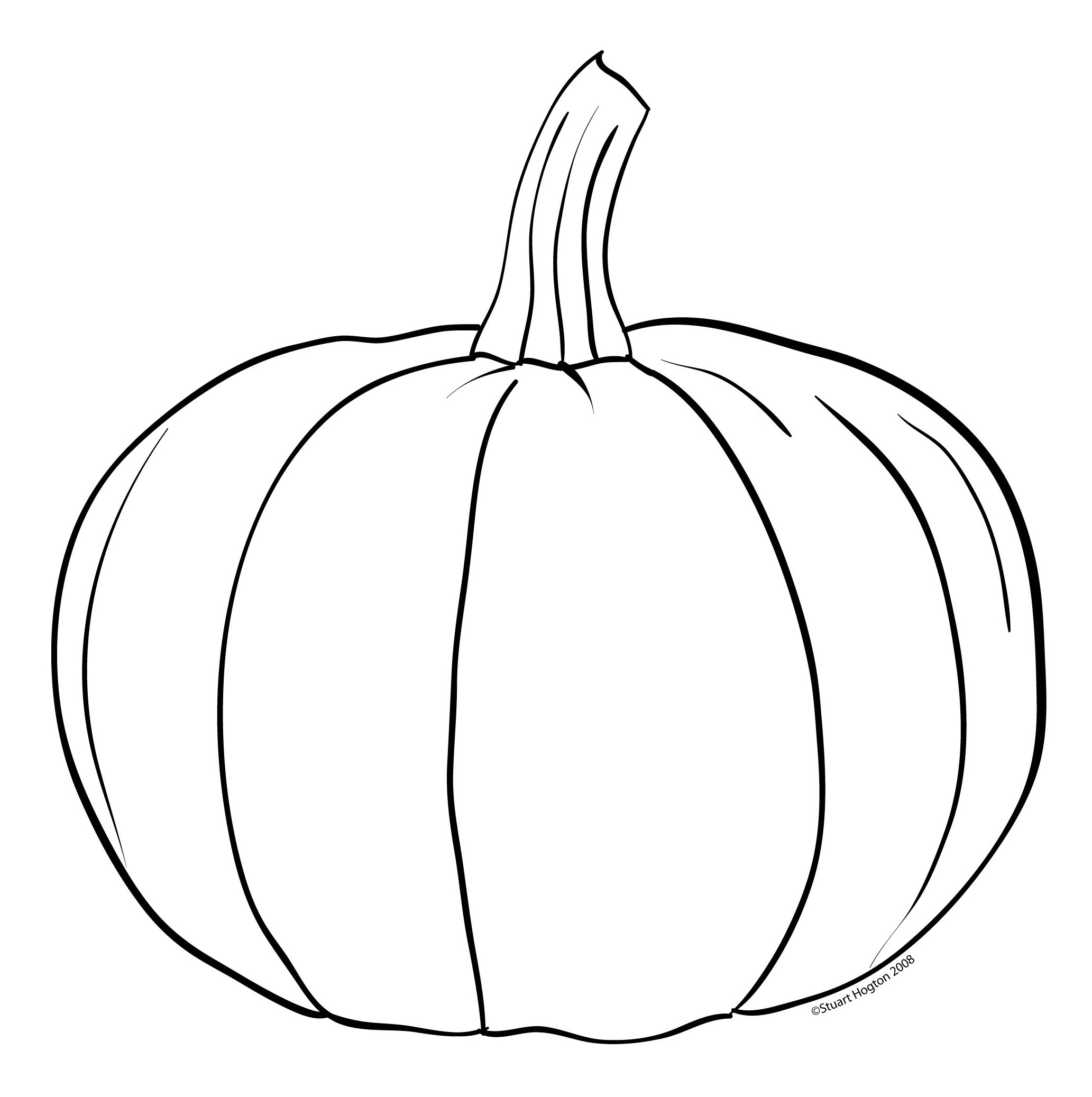 Pumpkin clipart drawing. Free line art download