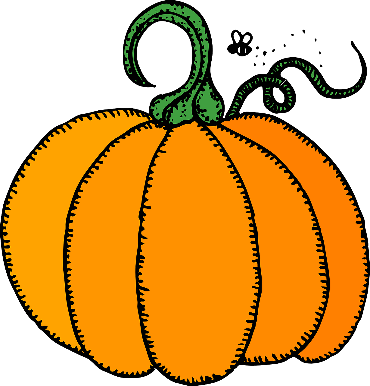 Pumpkin clipart drawing. How to draw a