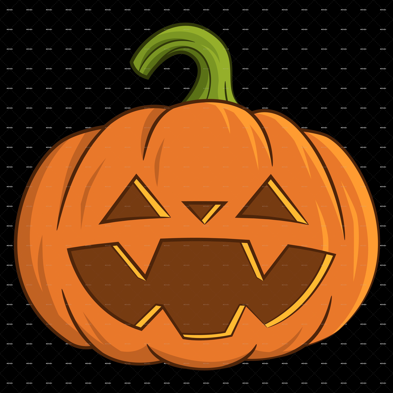 Pumpkin clipart fancy. Funny jack by gatts