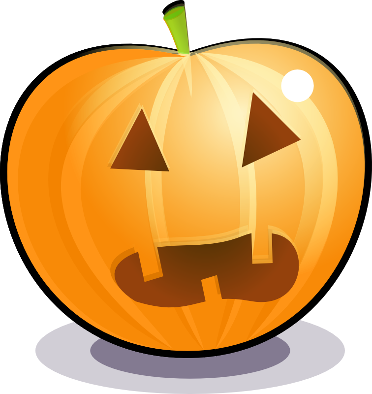 Free pictures of scared. Pumpkin clipart football