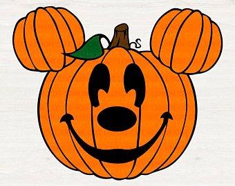 Pumpkin clipart mickey mouse. Disney svg etsy
