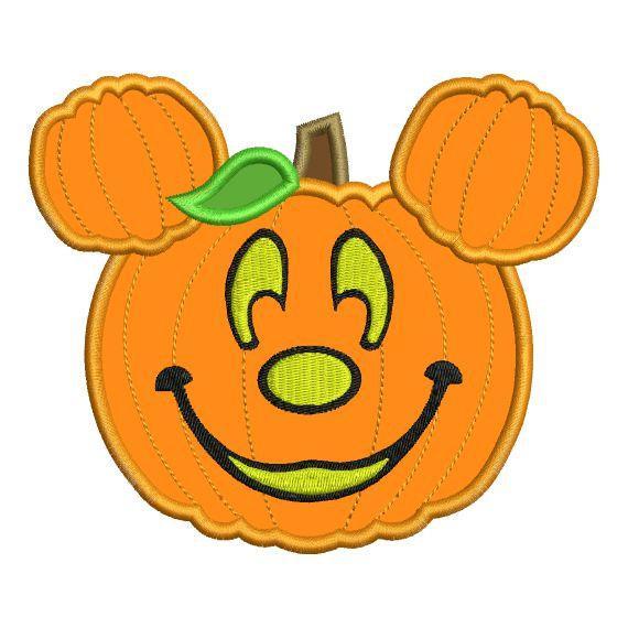 Pumpkin clipart mickey mouse. Applique jack o lantern