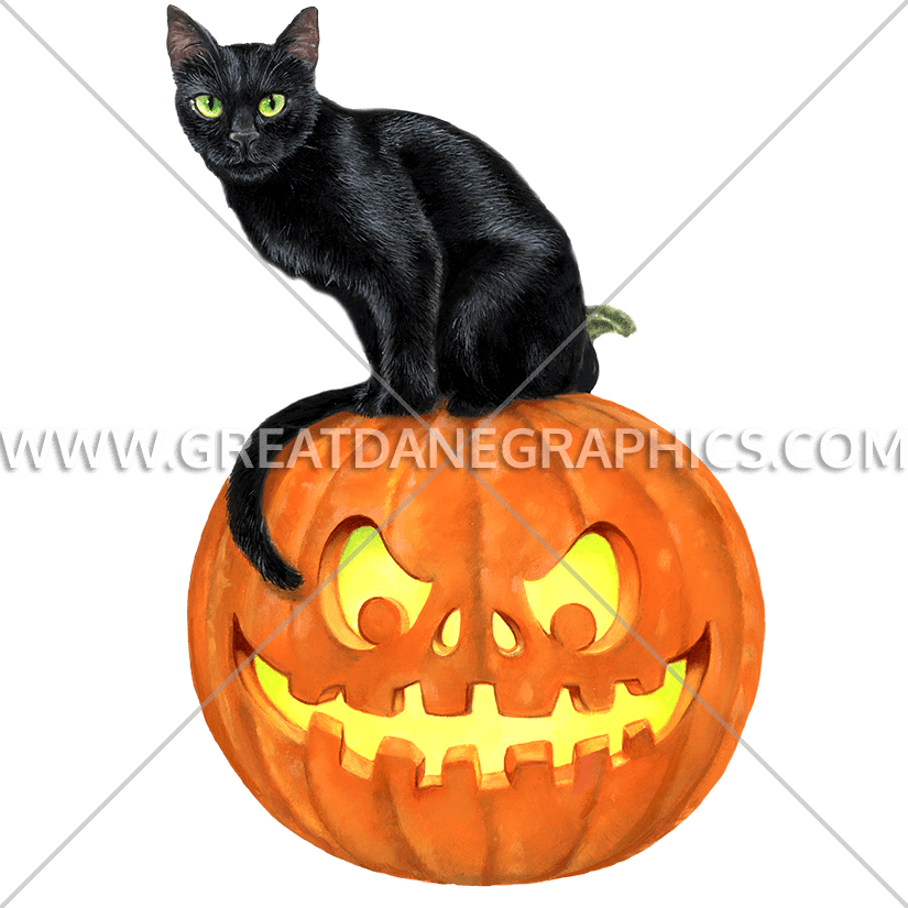 Pumpkin clipart modern. Black cat on production