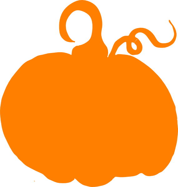 Orange silhouette at getdrawings. Pumpkin clipart solid