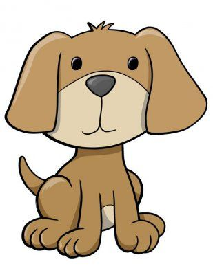 Clipart puppy. Pictures of cute cartoon