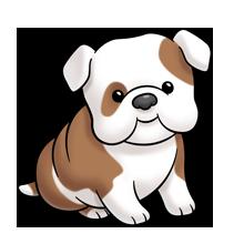 Bulldog clipart baby bulldog. Super cute website digital