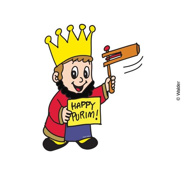 Purim clipart. Costume king wishing happy