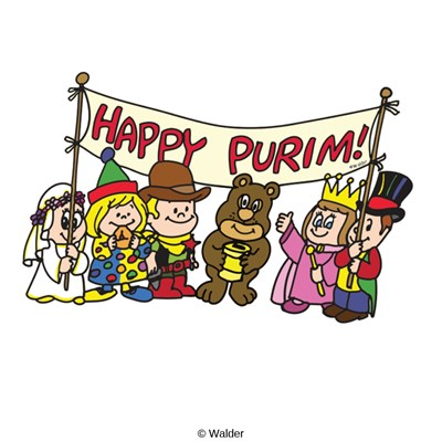 Happy costumes walder education. Purim clipart