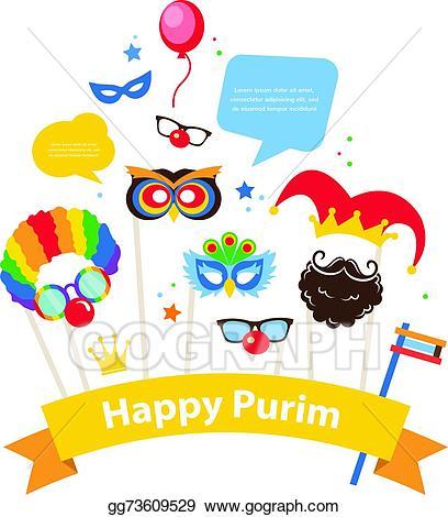 Vector illustration design for. Purim clipart hebrew